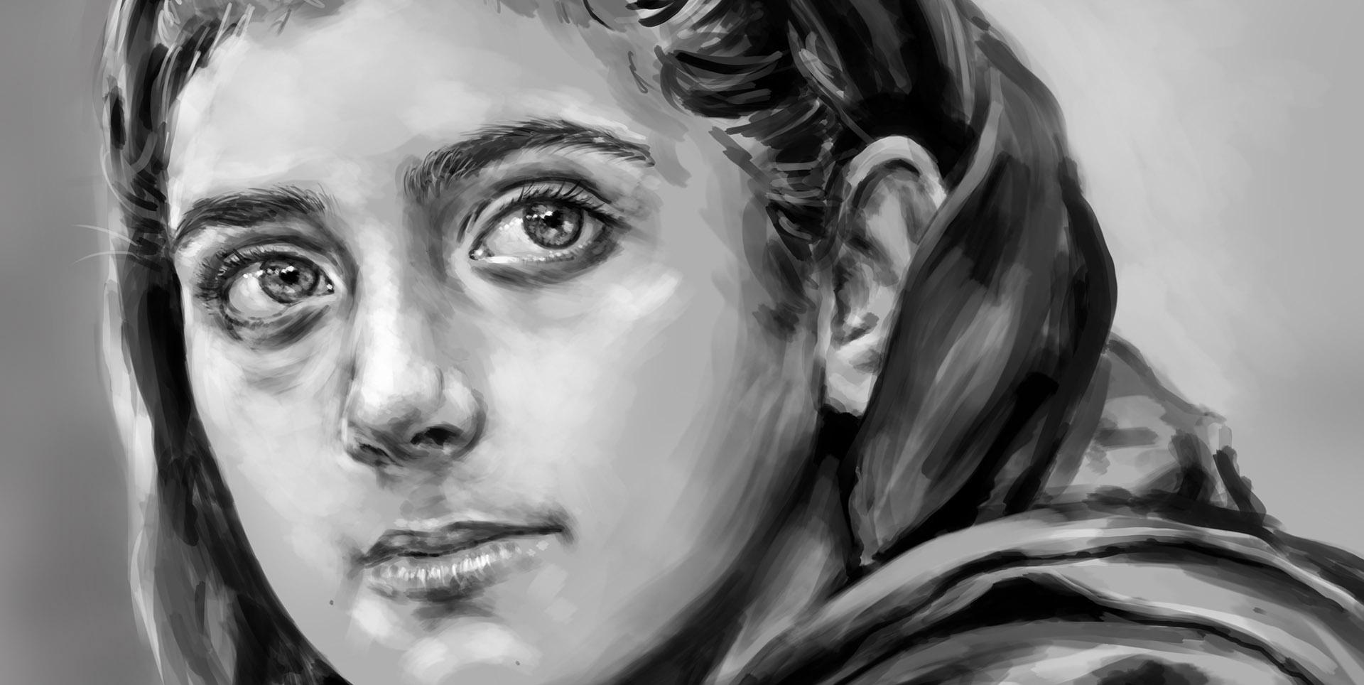Nabila Rehman, dibujo digital.