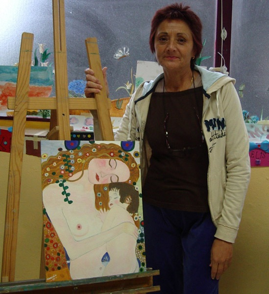 Marian, óleo sobre tabla, curso 2015-2016