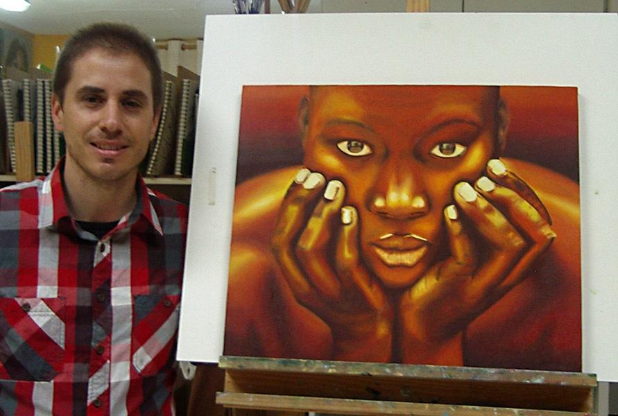 Pablo, óleo sobre lienzo, curso 2015-2016
