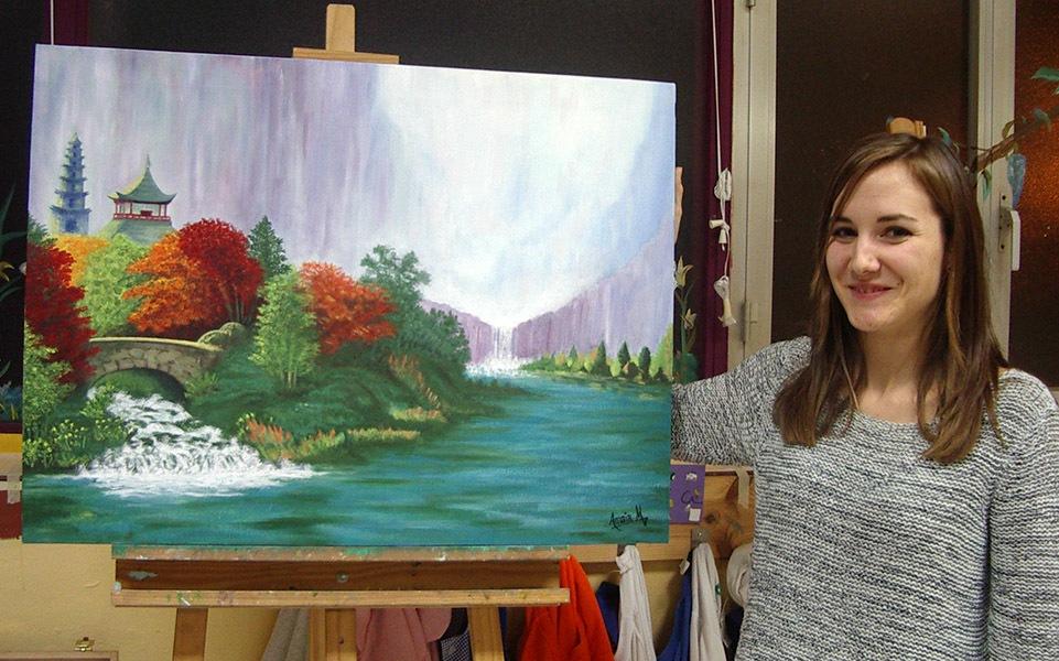 Amaia, óleo sobre lienzo, curso 2015-2016