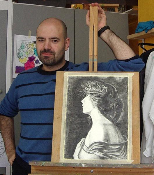 Jesús M, grafito. Curso 2015-2016