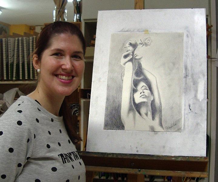 Patricia, grafito, curso 2015-2016