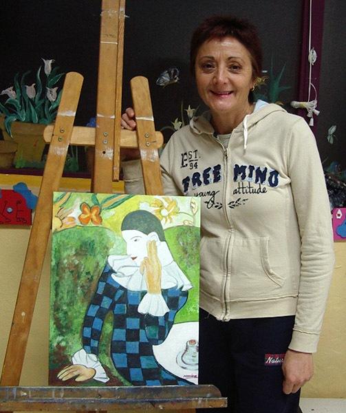 Mariam, óleo sobre lienzo, curso 2015-2016