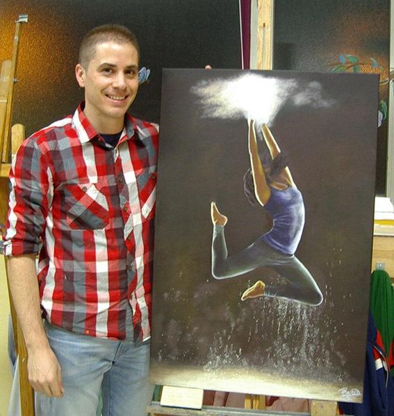 Pablo M, óleo sobre lienzo, curso 2015-2016