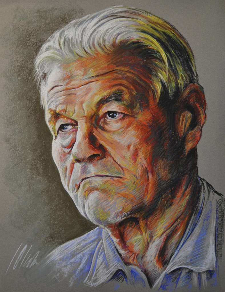 El abuelo de Asta II. Javier Olmedo, retrato en pastel, 2013