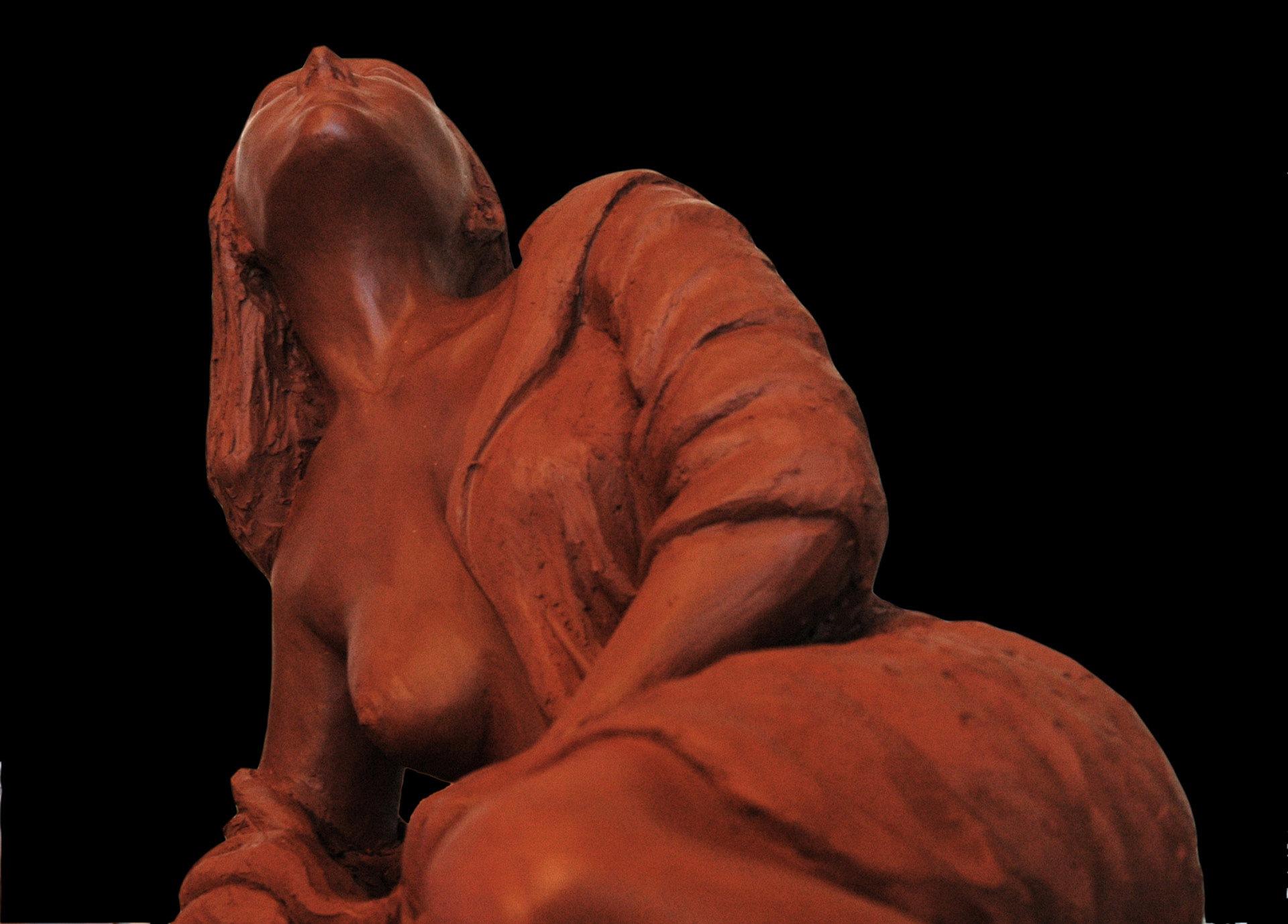 Sin título. Arcilla, 15 x 15 cm, Javier Olmedo. 2004