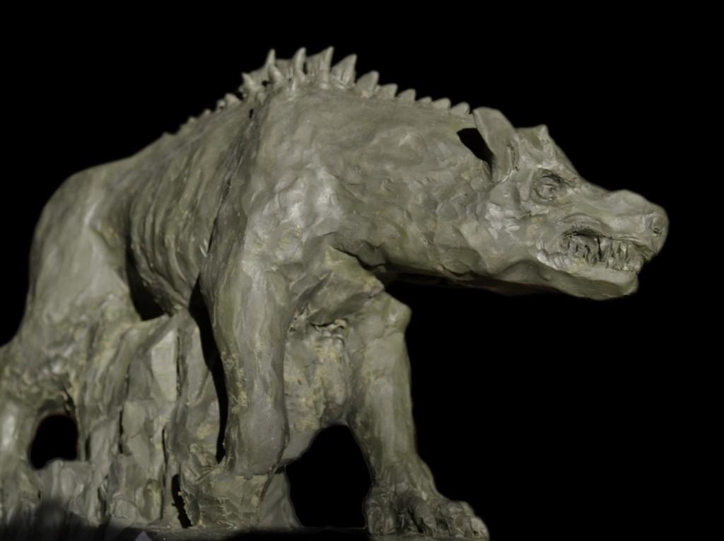 Bestia de Kangarast. Boceto en plastilina para ilustración, , 22 x 15 cm, Javier Olmedo. 2011