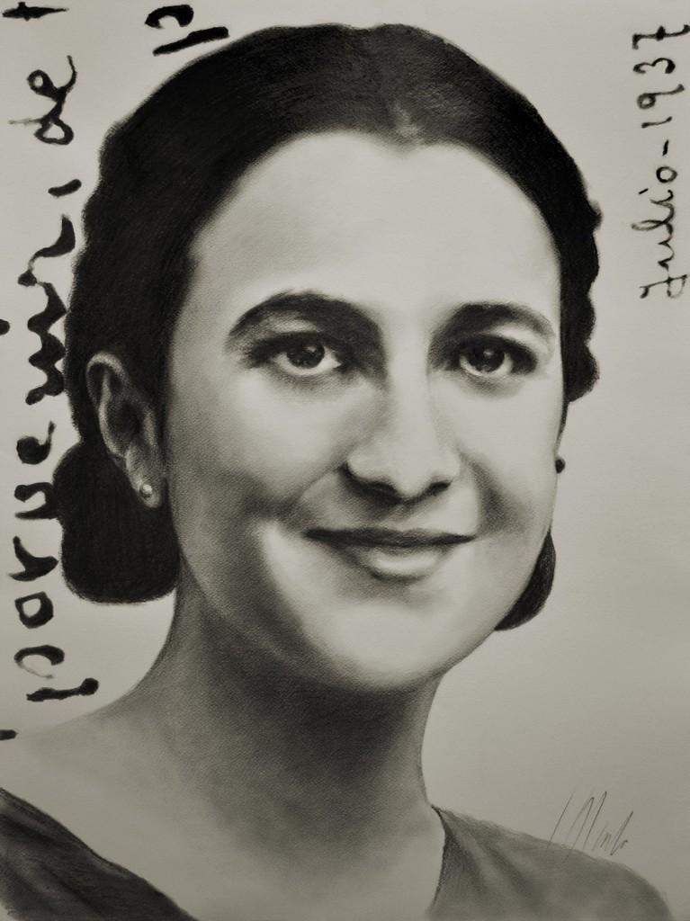 Mari. Javier Olmedo, retrato de mi madre. Grafito, 2013