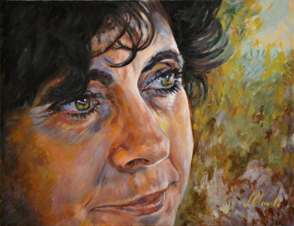 Mariti. Retrato en óleo sobre tabla, Javier Olmedo. 2012