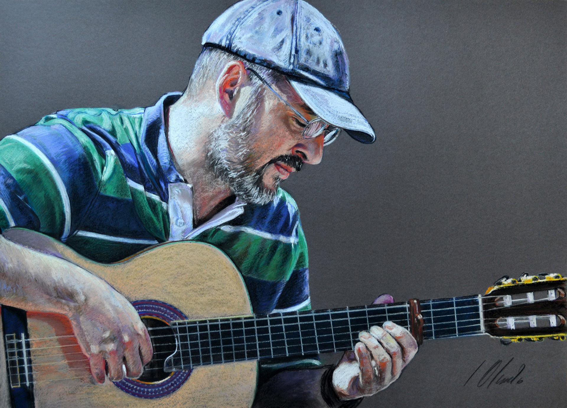 Miguel Antonio. Javier Olmedo, retrato en pastel, 2013