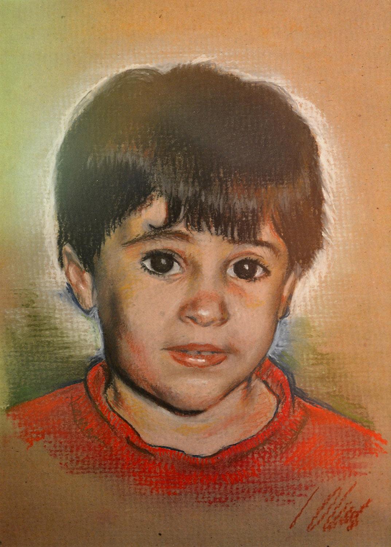 Miriam. Javier Olmedo, retrato de su hija realizado al pastel, 1994