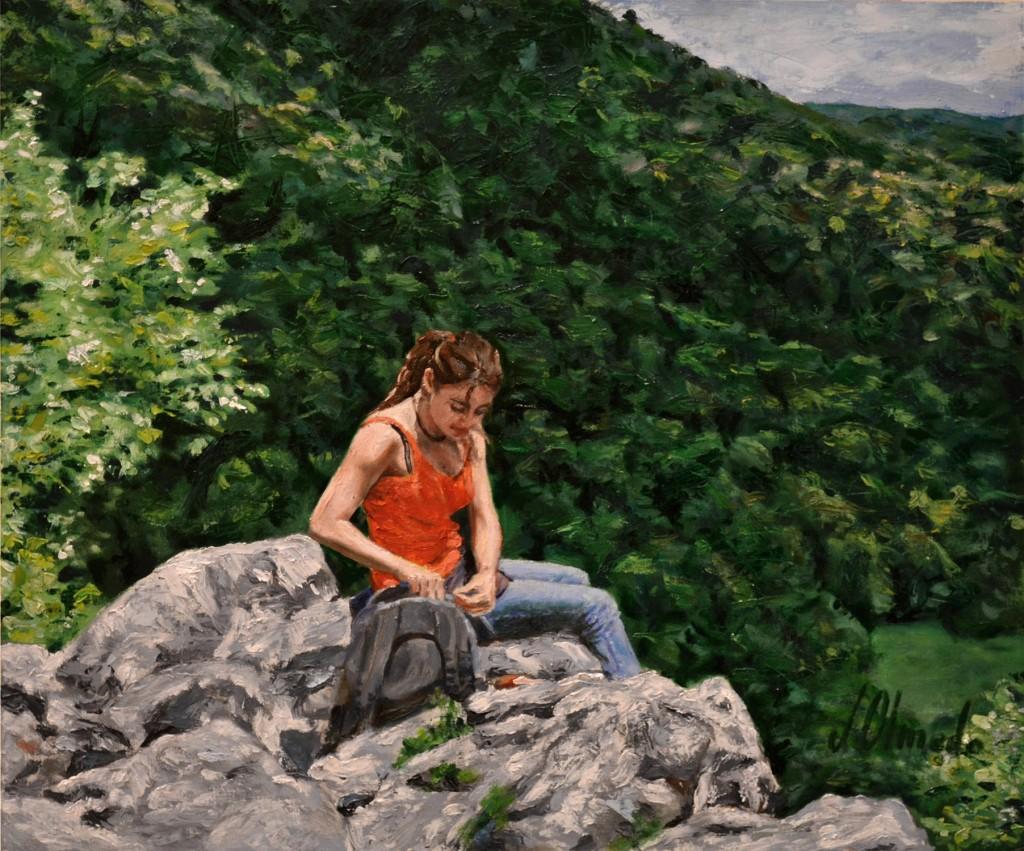 Miriam, Irati desde Arlekia. Óleo sobre lienzo. Javier Olmedo. 2011