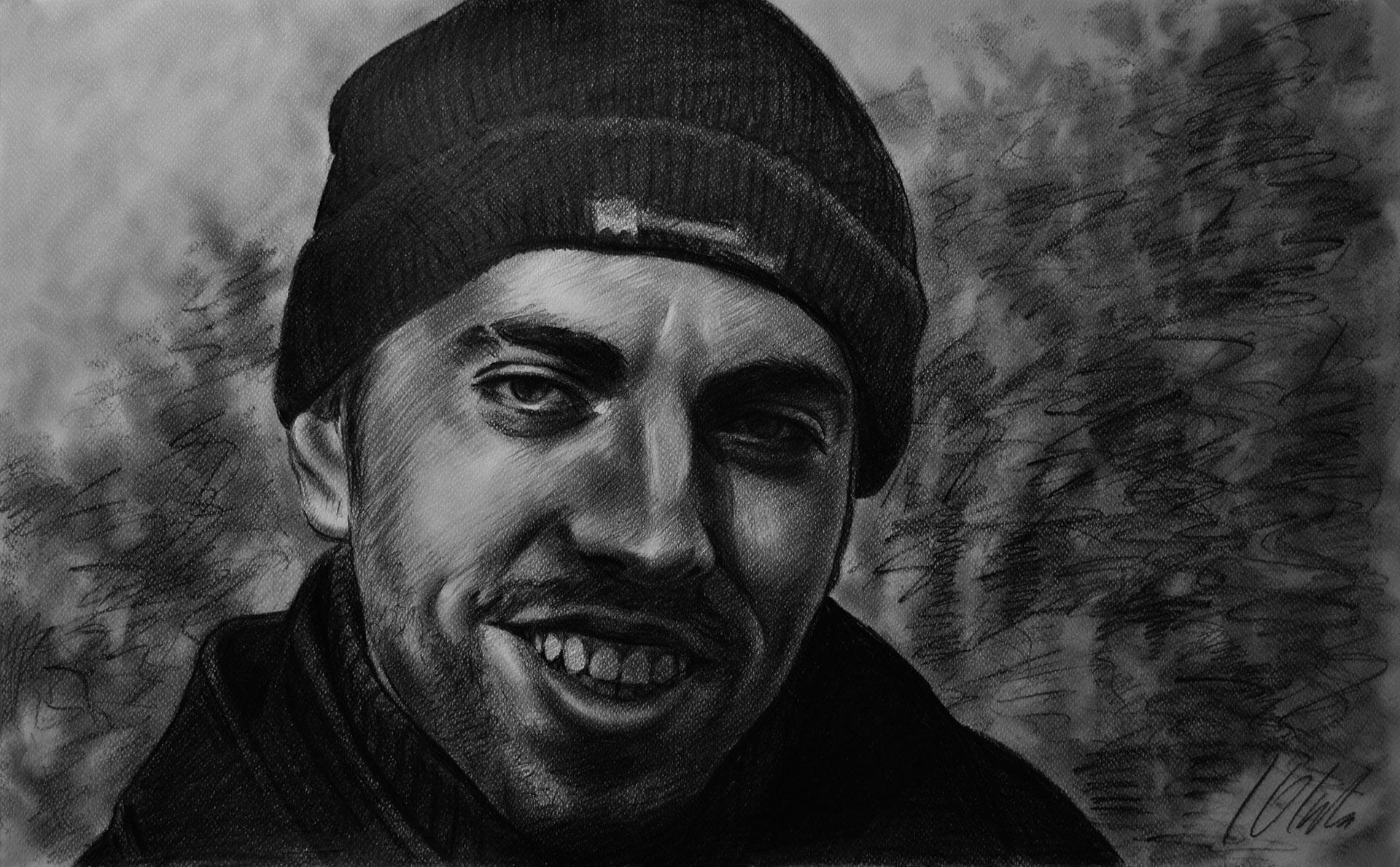 Pablo. Javier Olmedo, retrato en grafito, 2013