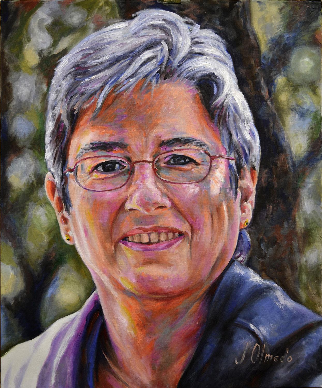 Pilar. Óleo sobre lienzo,   Javier Olmedo. 2012