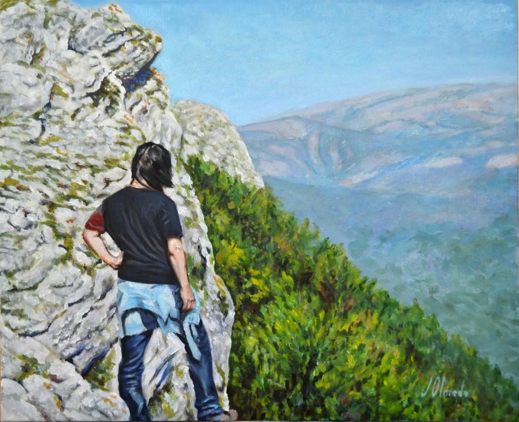 Urbasa, óleo sobre lienzo, 50 x 50 cm. Javier Olmedo. 2013