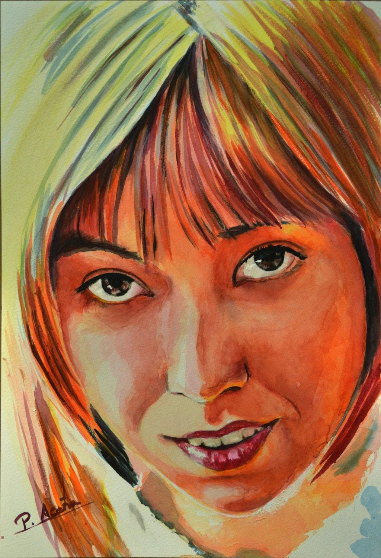 Sara. Obra de Pilar Aceña, acuarela. 2013
