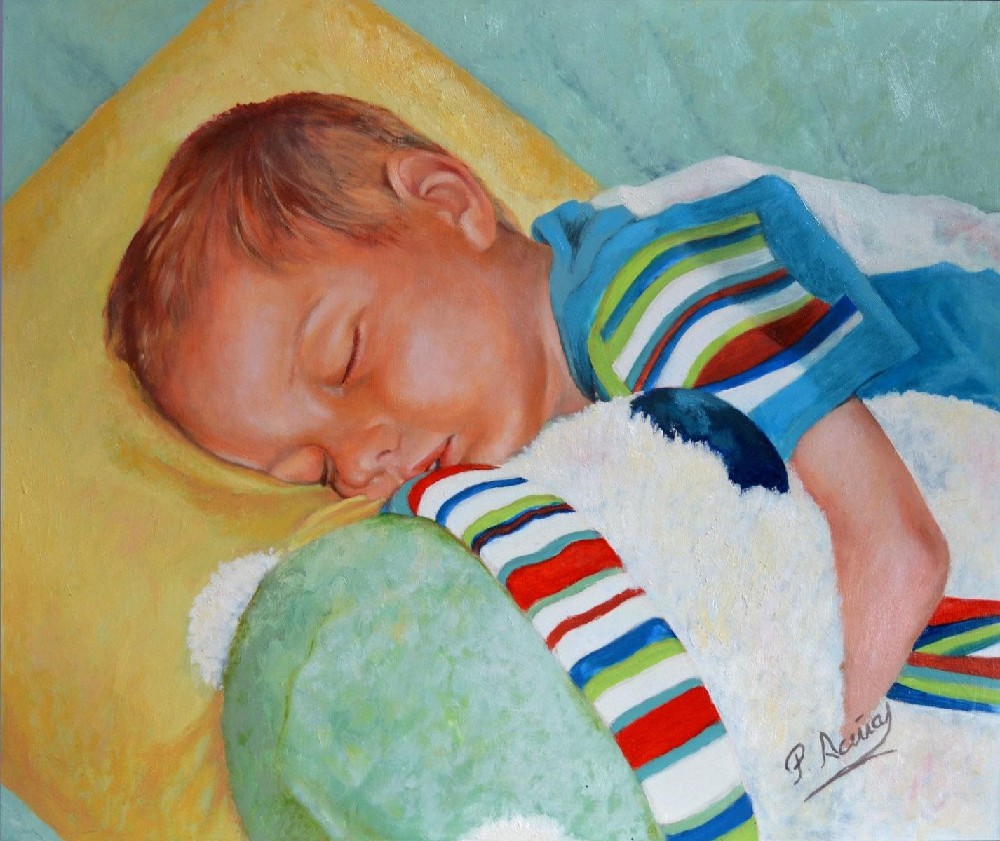 Aimar. Obra de Pilar Aceña, óleo sobre tabla. 2011