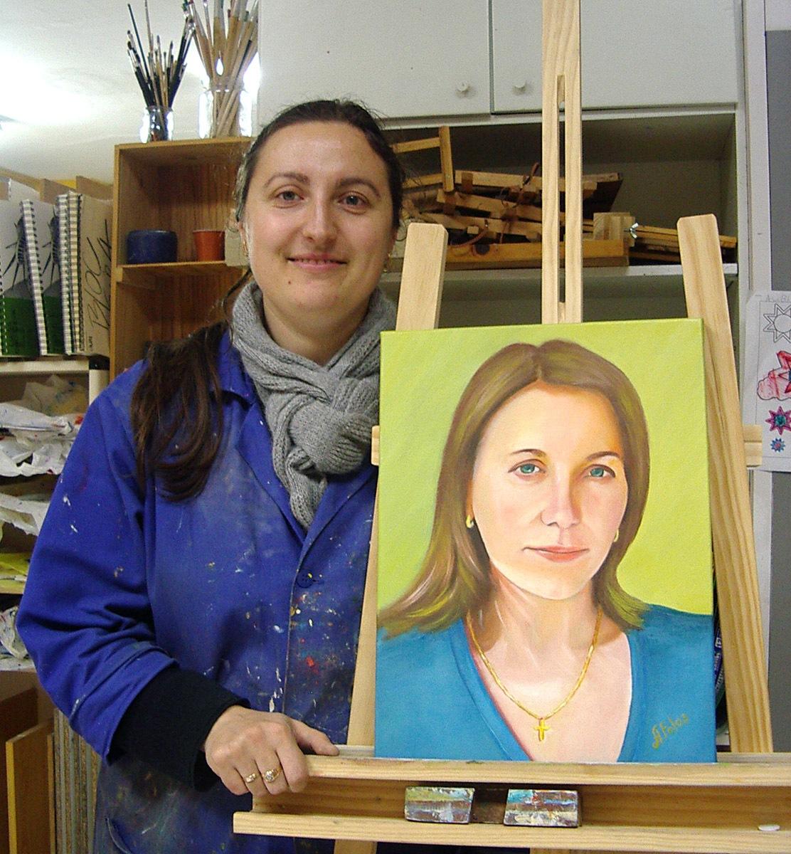 Ángela P, óleo sobre lienzo, curso 2015-2016