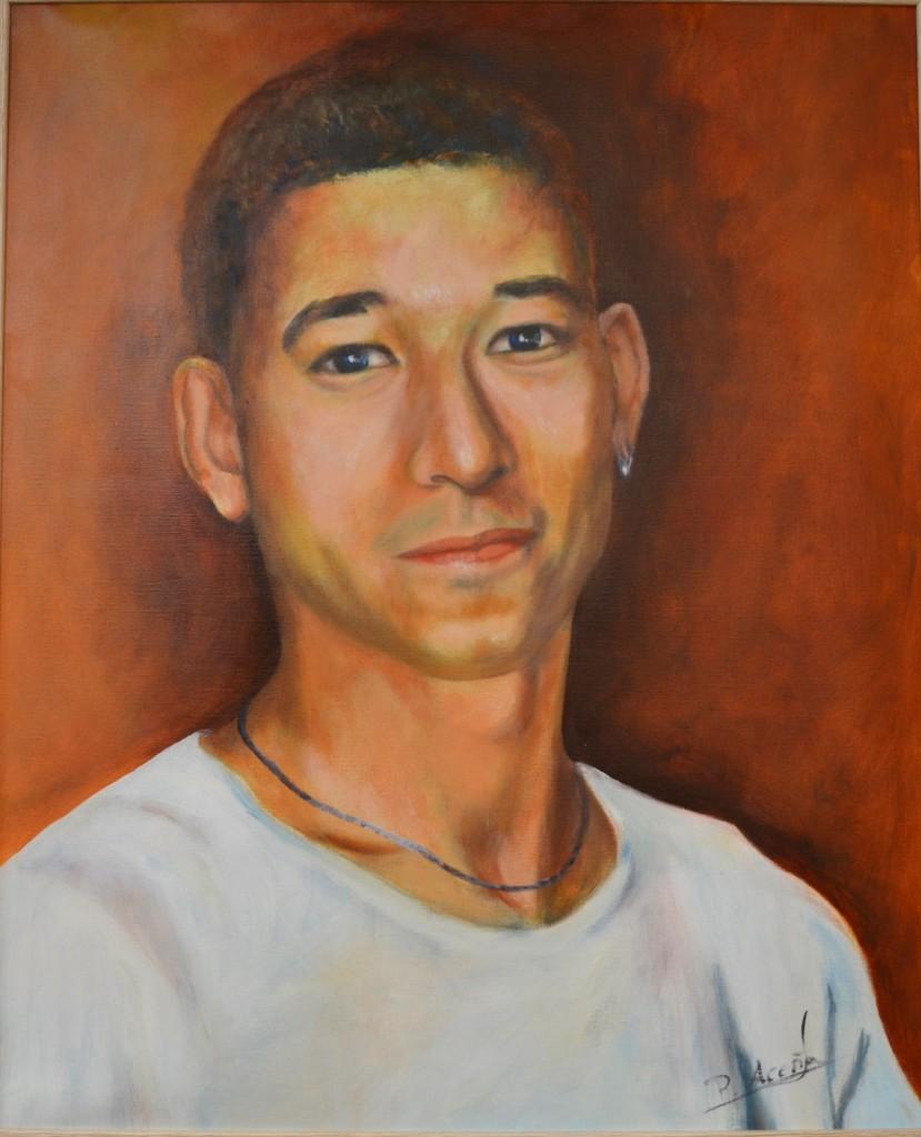 Carlos. Obra de Pilar Aceña, óleo sobre leinzo. 2011