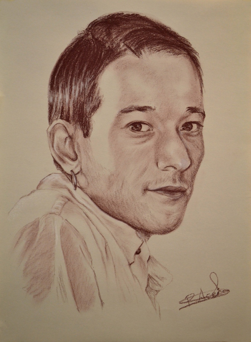 Carlos. Obra de Pilar Aceña, sepia. 2011