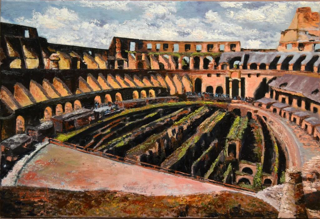 Coliseo. Pilar Aceña, óleo sobre tabla, 50 x 40cm. Año 2012. PV 270 €