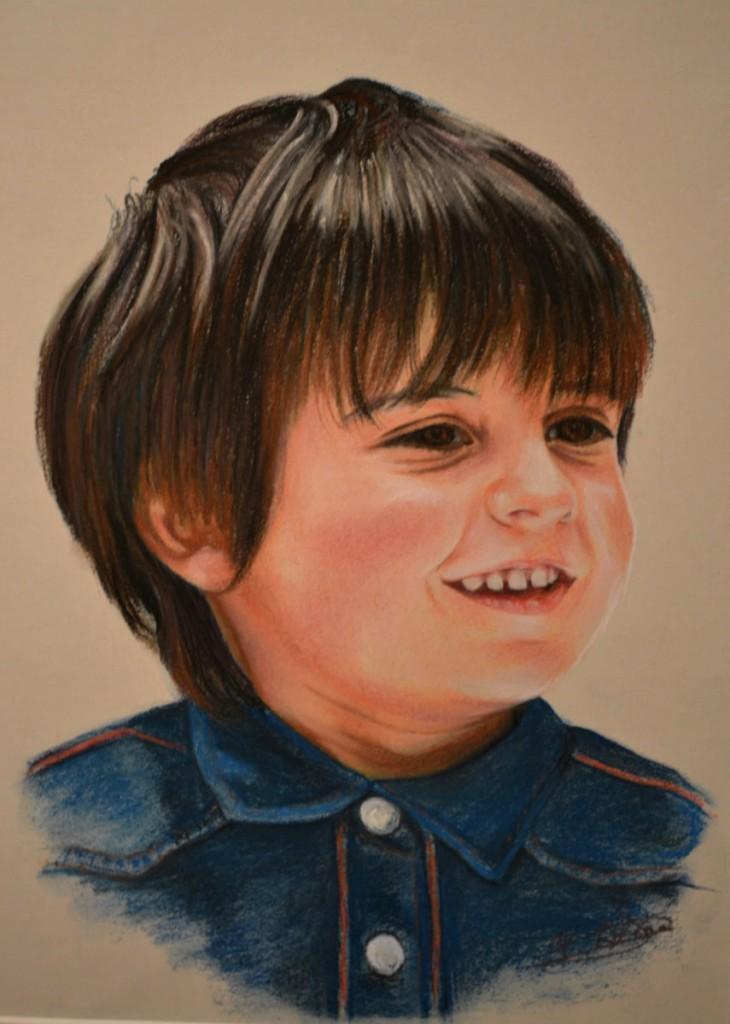 Diego. Obra de Pilar Aceña, pastel. 2012