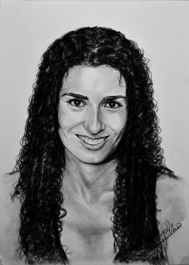 Eva. Obra de Pilar Aceña, carboncillo. 2013