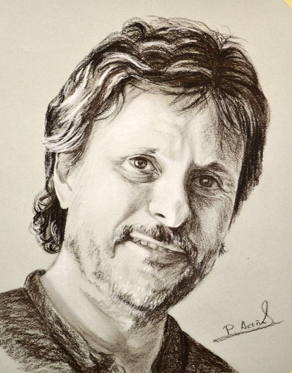 Javier. Obra de Pilar Aceña, sepia. 2011