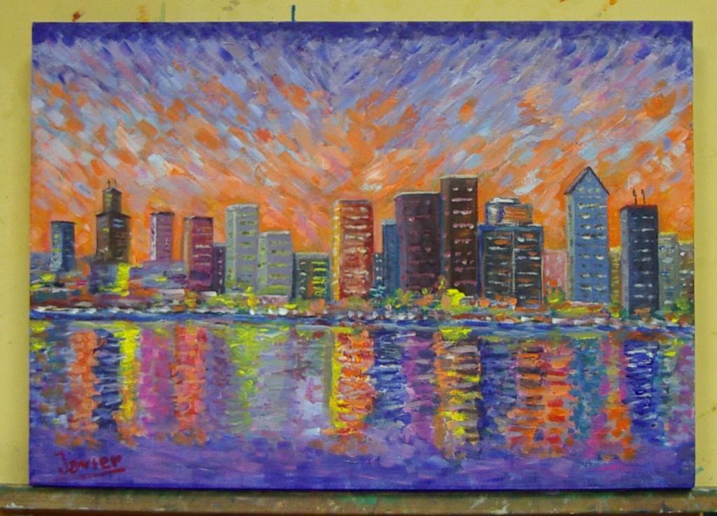 Javier M, óleo sobre lienzo., curso 2015-2016