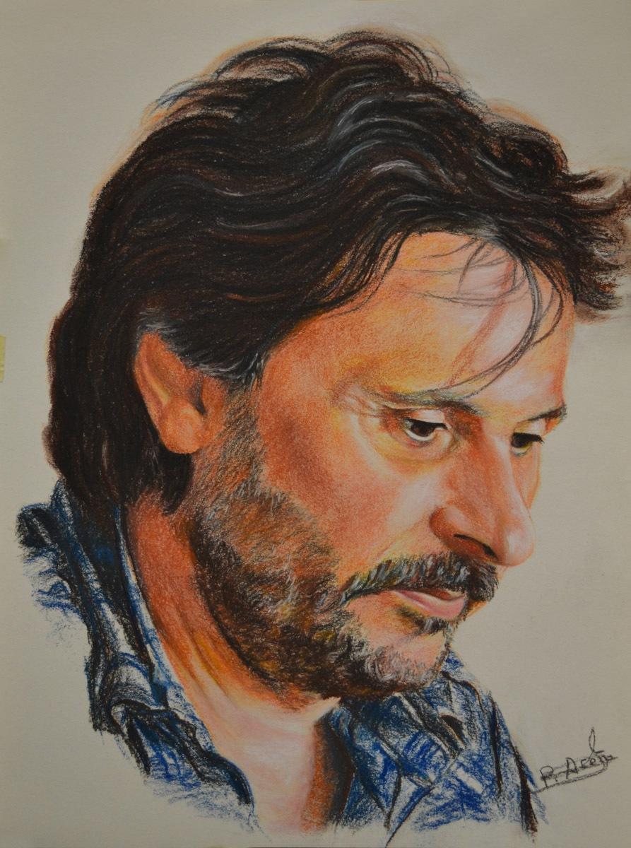Javier. Obra de Pilar Aceña, pastel. 2011