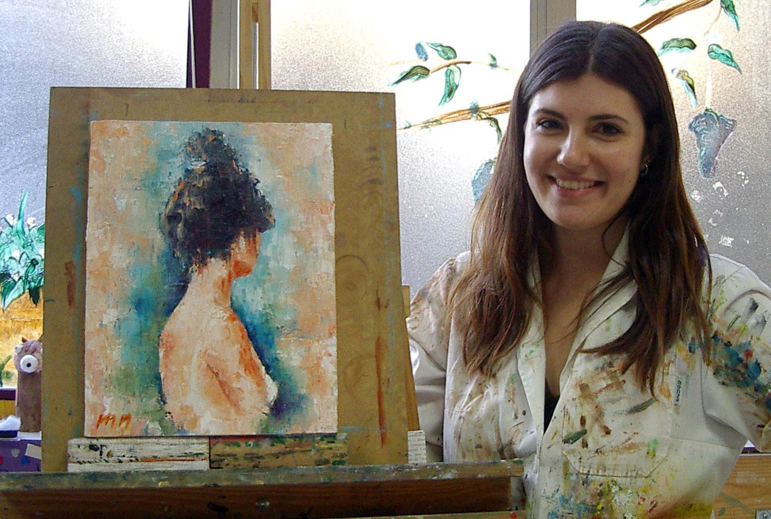 María, óleo sobre lienzo, curso 2015-2016