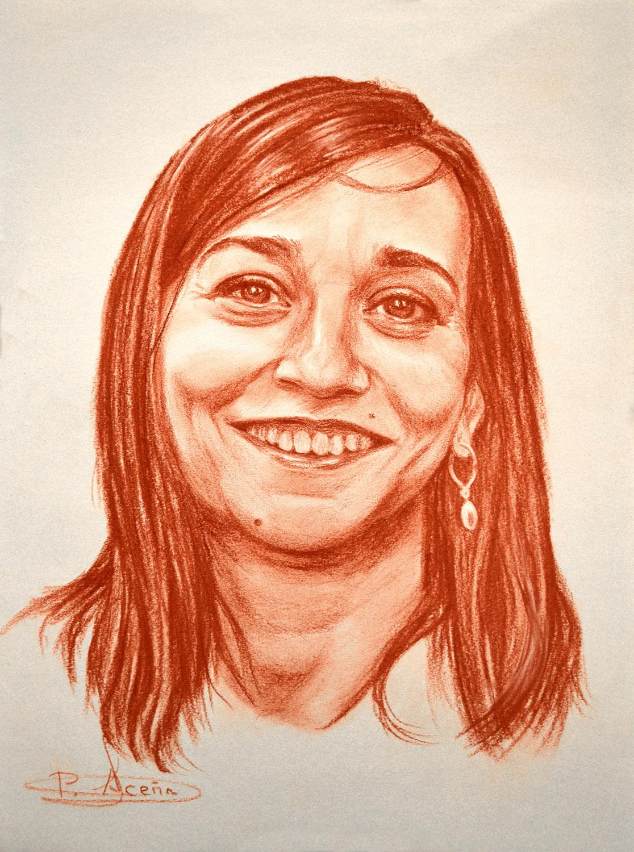 Marijose. Obra de Pilar Aceña, sanguina. 2011