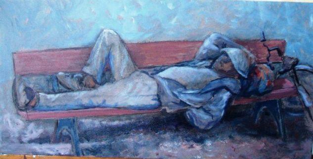 Momento de tranquilidad. Pilar Aceña, acrílico sobre lienzo. 2005