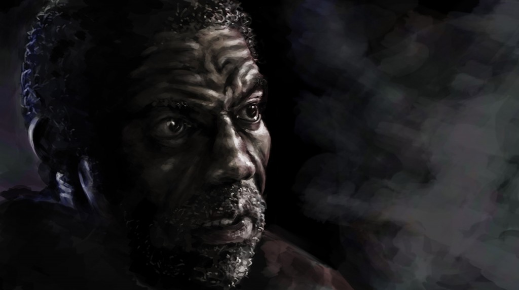 Negro, tableta gráfica. Javier Olmedo, 2015