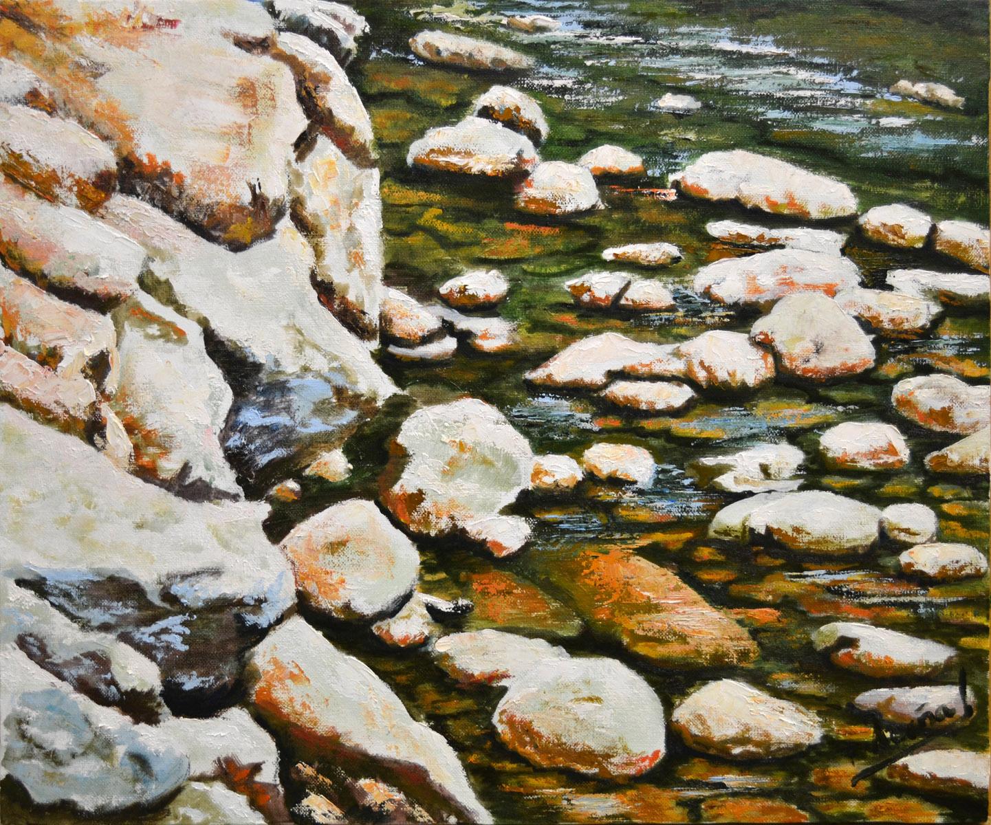 Oroz-Betelu. Pilar Aceña, oleo sobre lienzo. 55 x 40cm. Año 2012. PV 260 €