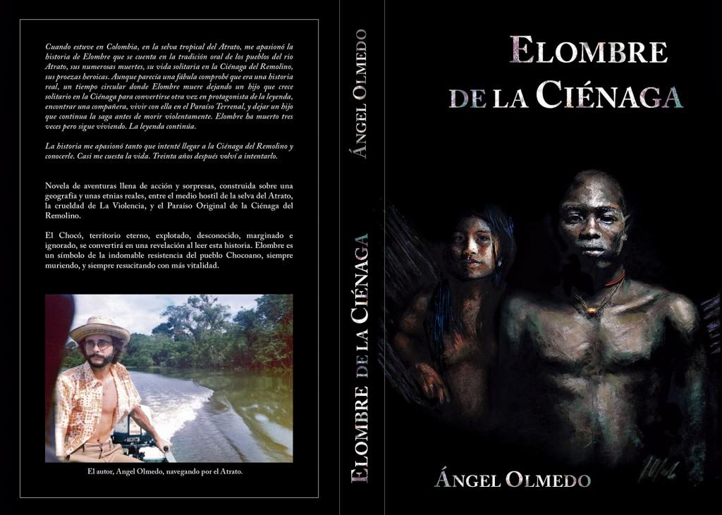 Portada del libro Elombre de la Ciénaga, diseño gráfico. Javier Olmedo. 2014