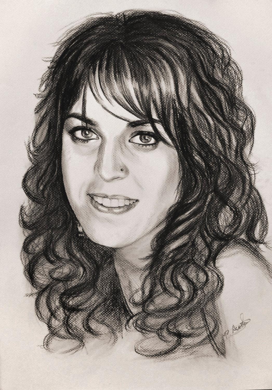 Pastel, retrato realizado por Pilar Aceña. 2012