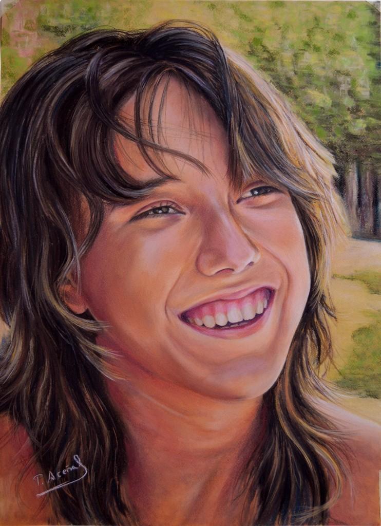 Sara, pastel, 70 x 50 cm. Pilar Aceña, 2013