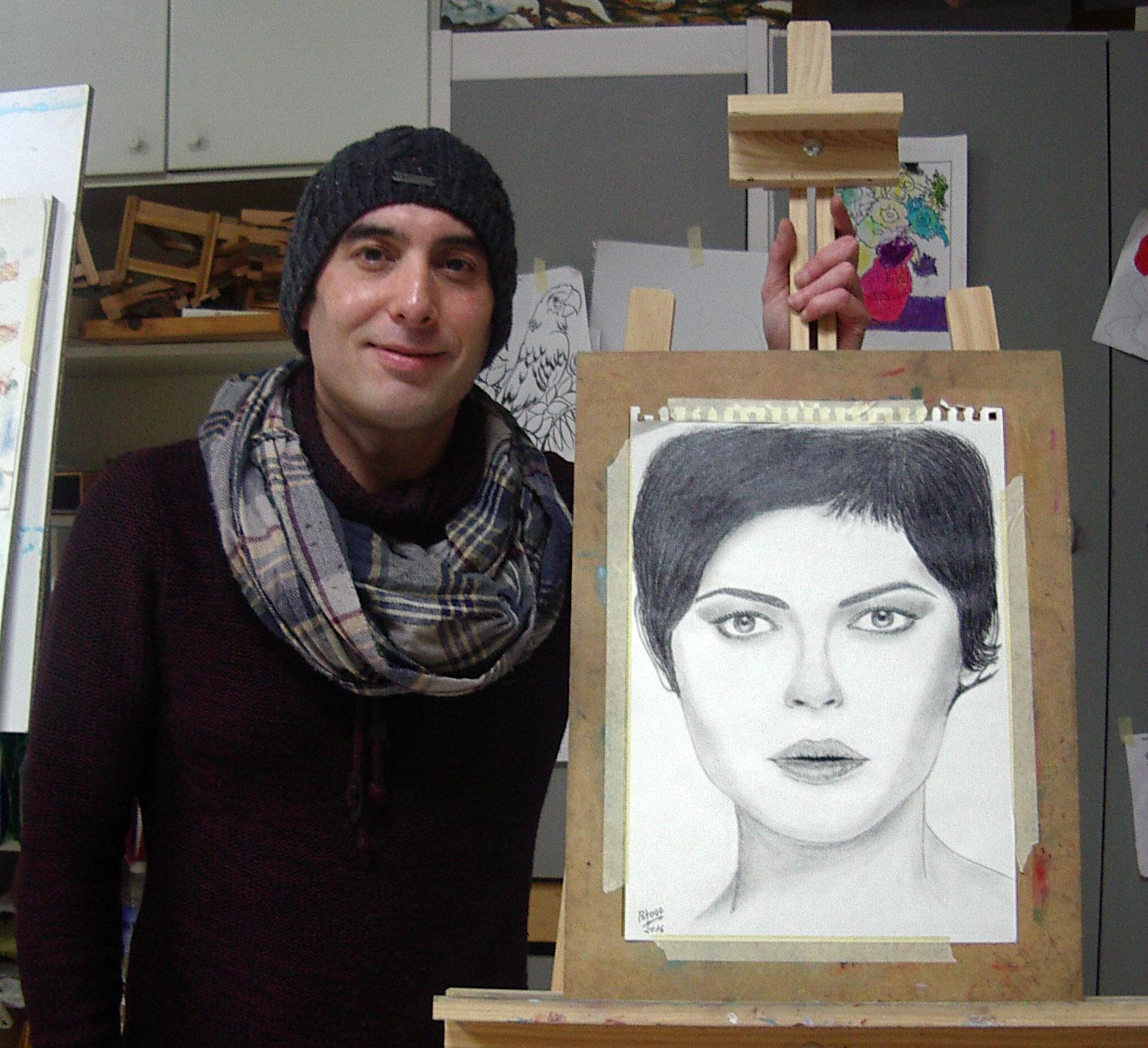 Alberto V, grafito. Taller Aceña - Olmedo, Curso 2015 - 2016