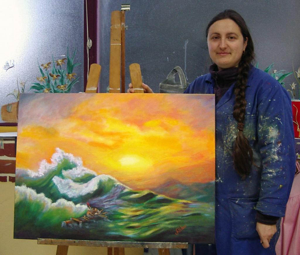 Ángela, óleo sobre lienzo. Taller Aceña - Olmedo, Curso 2015 - 2016