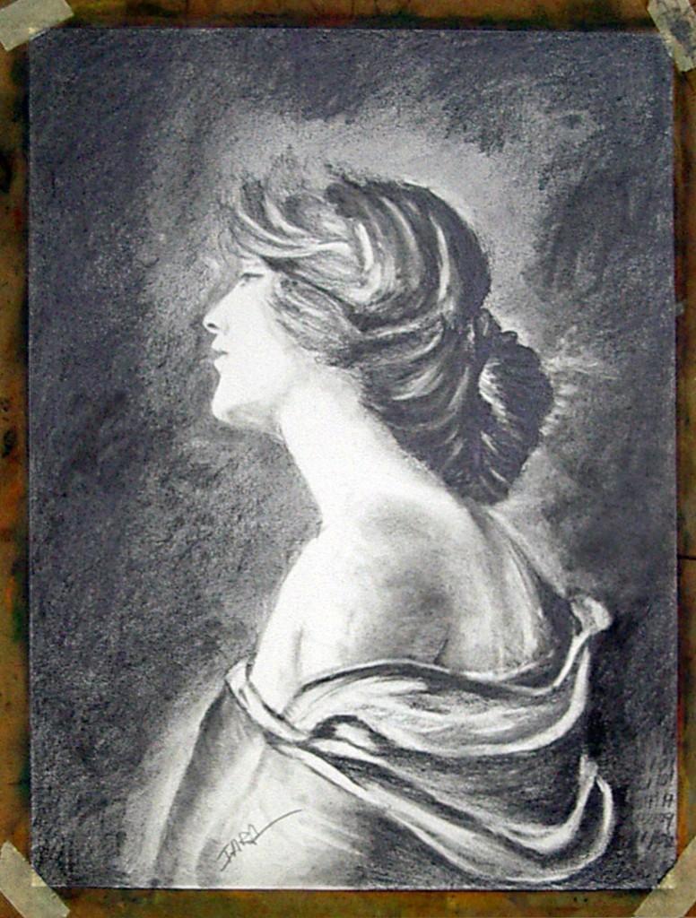 Iara, grafito. Taller Aceña - Olmedo, Curso 2015 - 2016
