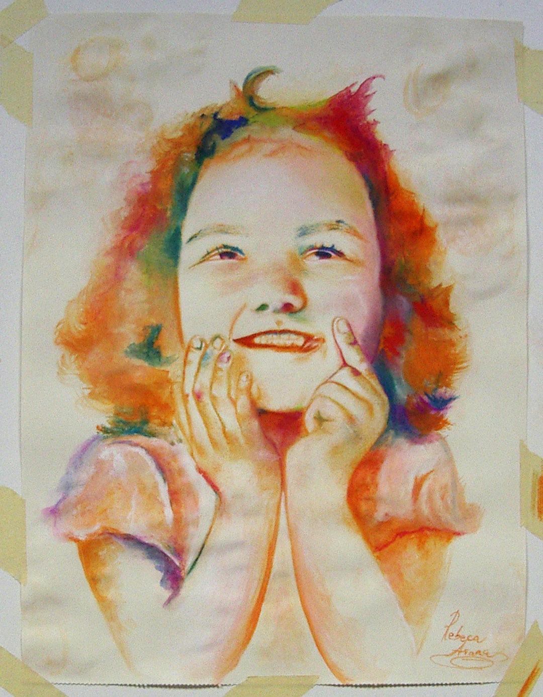 Rebeca, pastel. Taller Aceña - Olmedo, Curso 2015 - 2016