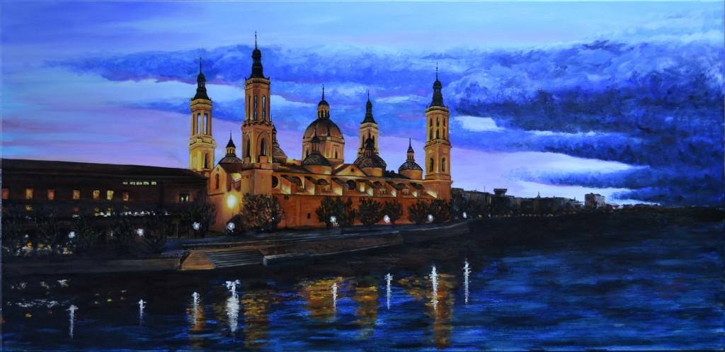 Basílica del Pilar de Zaragoza. Pilar Aceña, óleo sobre lienzo. Año 2016. Vendido