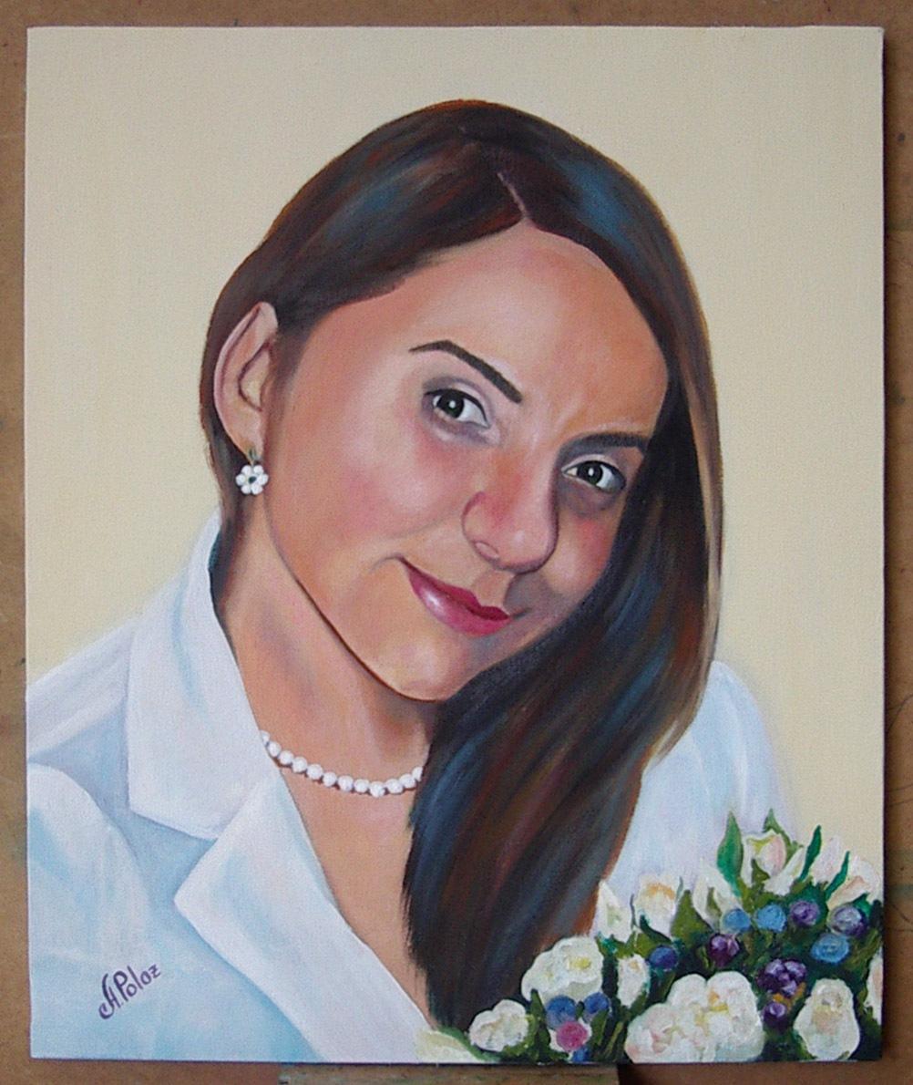 Ángela P, óleo sobre lienzo. Taller Aceña - Olmedo, Curso 2015 - 2016