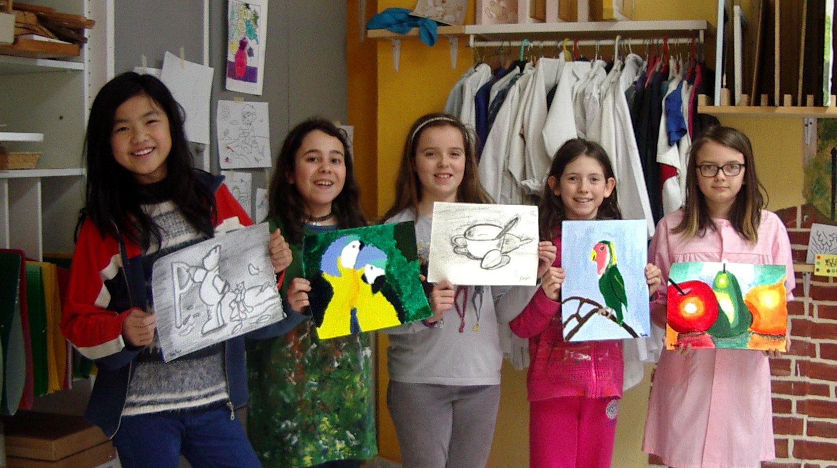 Nuestras jóvenes artistas, taller Aceña - Olmedo. Curso 2015 - 2016
