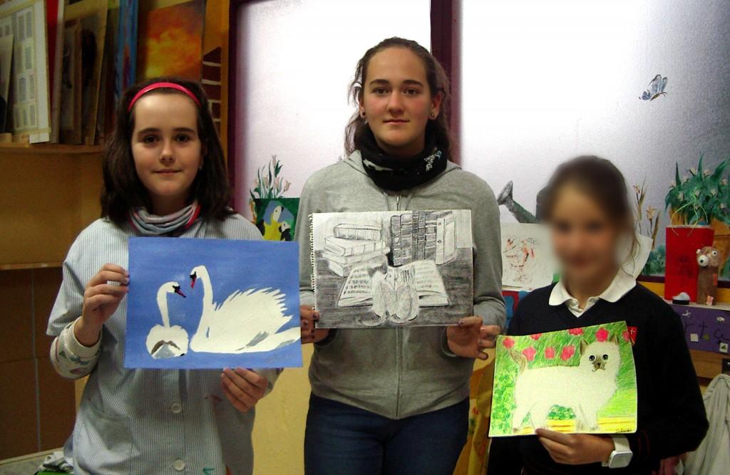 Nuestras jóvenes artistas. Taller Aceña - Olmedo, Curso 2015 - 2016