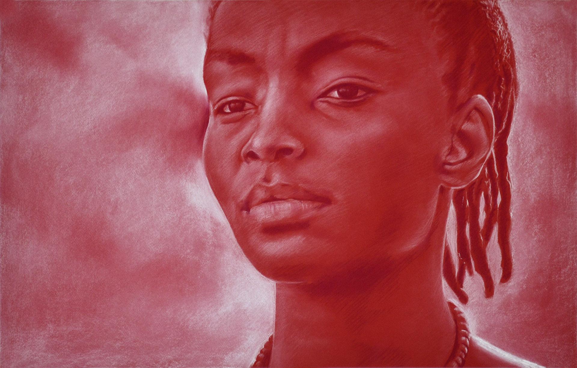 Sin título. Javier Olmedo, pastel. 70 x 47 cm. 2016. PV 115 €