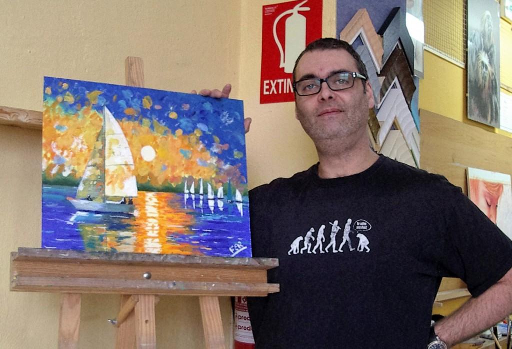 Fernando M, óleo sobre lienzo. Taller Aceña - Olmedo, Curso 2015 - 2016