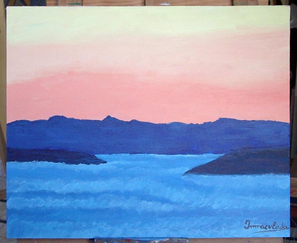 Inmaculada, acrílico sobre lienzo. Taller Aceña - Olmedo, curso 2015 - 2016