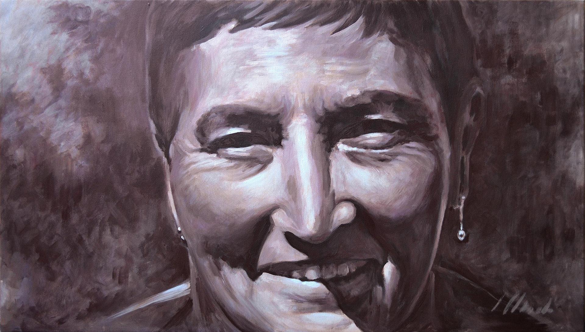 Rosario. Acrílico sobre lienzo. Javier Olmedo. 80 x 45 cm, 2016